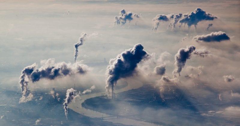 Aerial view of German industrial area
