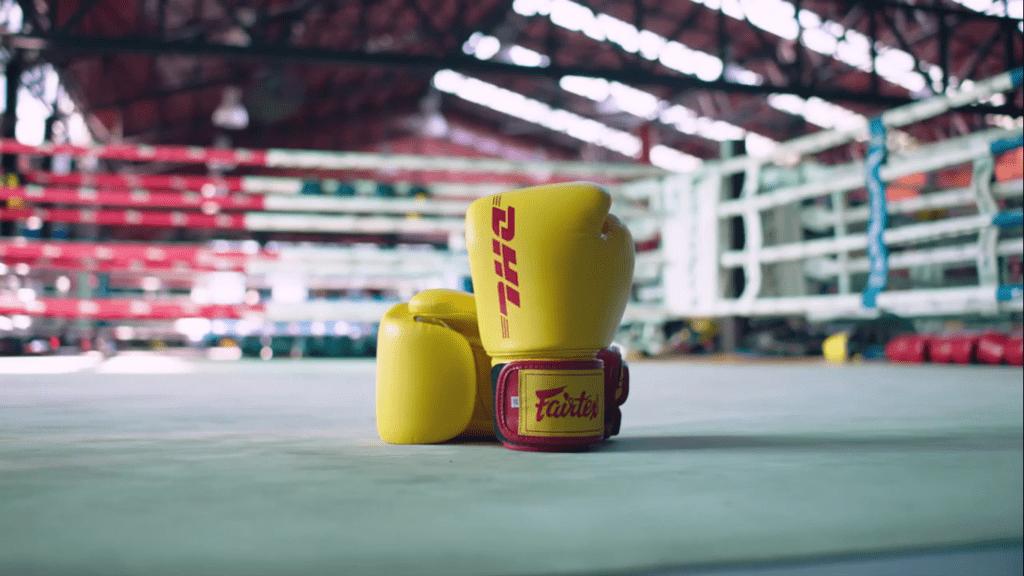 DHL boxing gloves