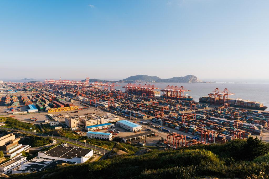 Yangshan deep-water port in Shanghai, China