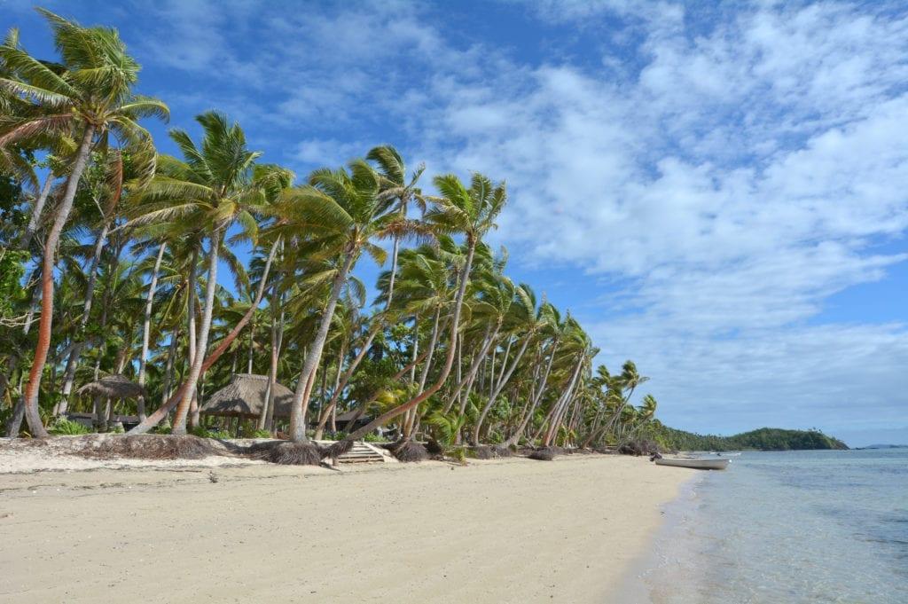 An empty beach in the Yasawa Islands, Fiji