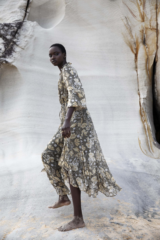 Jolie Plunged Godet Midi Dress (Photo: Shona Joy)